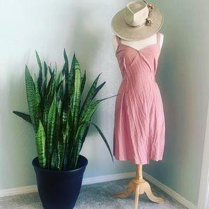 NWT linen blend wrap dress